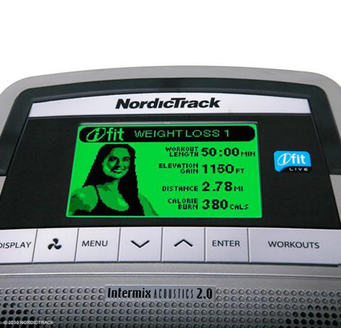nordictrack e7.1 elliptical trainer consol