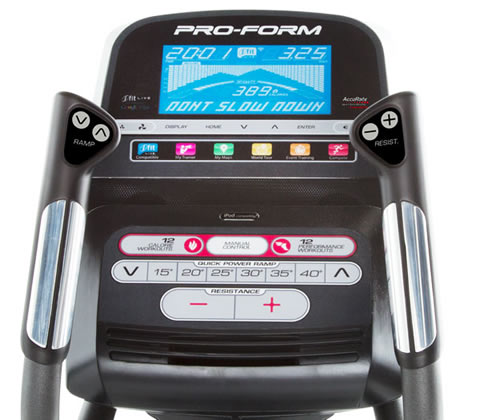 Proform elliptical trainer console