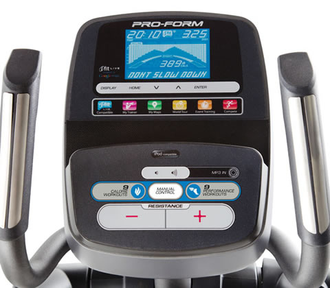 Proform 510 elliptical consol