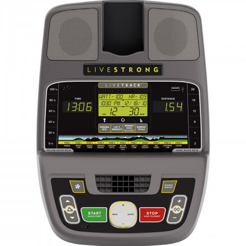 livestrong elliptical console