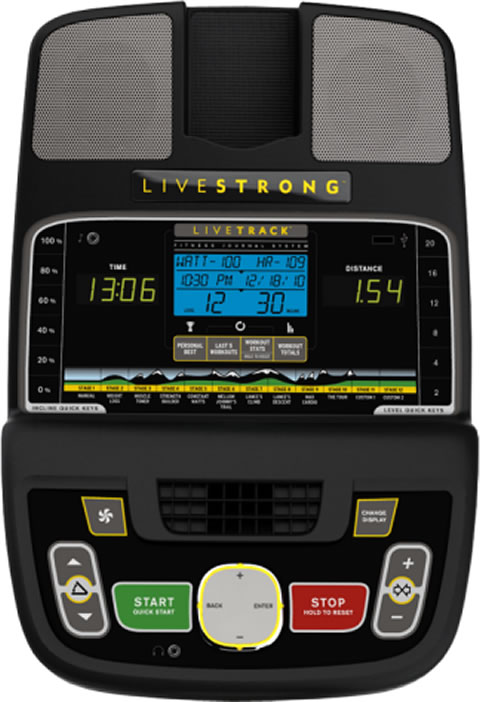 Livestrong Ls13.0e elliptical trainer consol